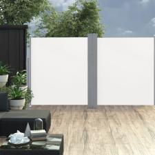 Krémszínű behúzható dupla teraszi napellenző 170 x 600 cm kerti dekoráció