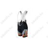 KTM Factory Team kerékpáros rövid nadrág kantáros betétes fekete/szürke/narancs M