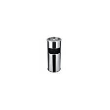 . Kültéri  szemetes,  hamutartóval kombinált,  25x58 cm, inox szemetes