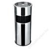 . Kültéri  szemetes,  hamutartóval kombinált,  25x58 cm, inox (UVV005)