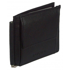 La Scala Dolláros, fekete bőr pénztárca La scala