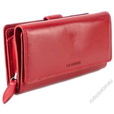 La Scala Nagy méretű bőr női  piros pénztárca LA SCALA