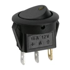 Lampa Kapcsoló billenő LED-es 2 állású 12V 16A 09042SA sárga elektromos autós kellék
