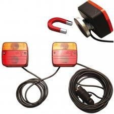 Lámpák utánfutóra mágneses tartóval (BGS 80960) autójavító eszköz