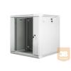 Lanberg 19'' fali rack szekrény 12U 600x600mm szürke (üvegajtó)