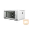 Lanberg 19'' fali rack szekrény 4U 600x450mm szürke (üvegajtó)