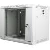 """Lanberg 19"""" fali rack szekrény 9U 600x450mm szürke (üvegajtó)"""
