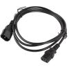 Lanberg CA-C13E-11CC-0030-BK C13 - C14 3m VDE tápkábel hosszabbító