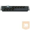 Lande LN-PRZ-SGT-2U9P-SC Hálózati elosztó 2U 1x16A kismegszakító 9 x DIN49440