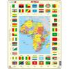 Larsen maxi puzzle 70 db-os Afrika térkép és zászlók KL3