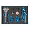 Laser Tools Fékcsőperemező készlet járművön is használható 4.75+5 bevonatos +6 mm (LAS-6950)