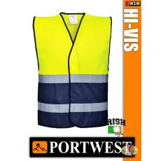 LÁTHATÓSÁGI BIZTONSÁGI MELLÉNY - Portwest Kéttónusú /sárga-kék/
