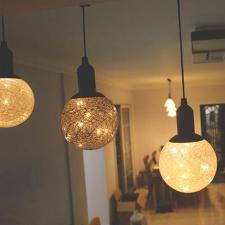 LED dekorációs függő gömblámpa kültéri világítás