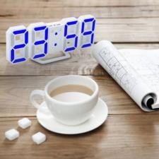 LED digitális asztali óra kék fénnyel, DS-6609 ébresztőóra
