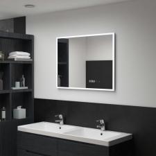 LED-es tükör érintésérzékelővel és időkijelzővel 80 x 60 cm bútor