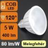 LED Labs LED lámpa MR16-GU5.3 (5W/120°) Szpotlámpa - meleg fehér
