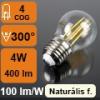 LED lámpa E27 Filament (4Watt/300°) Kisgömb - természetes f.
