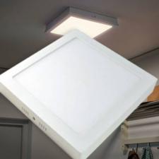 LED panel négyzetes mennyezeti lámpa 24W - Melegfehér világítás