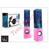 LED SOUND Univerzális hangszóró 3,5 mm jack csatlakozóval és vezetékkel - LED Sound Dancing Water - pink
