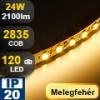 LED szalag beltéri (2835-120-FN) - meleg fehér Legerősebb!