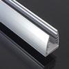 LEDvonal Aluminium U profil , LED szalaghoz , 5 mm-es üveglaphoz , EDGE-1