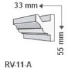 LEDvonal RV-11/A , Rejtett világítás díszléc , oldalfal