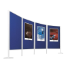 Legaline professional kétoldalú filc pinboard, kék filccel, 120x150 cm