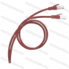 Legrand 051854 patch kábel RJ45-RJ45 Cat.6 árnyékolt (F/UTP) LSZH (LSOH) 1 méter piros d: 6mm AWG26 LCS3
