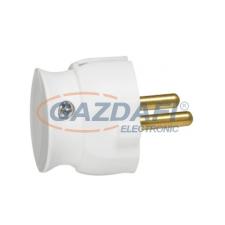 LEGRAND 2P csatlakozódugó 16A, fehér műanyag, besüllyesztett villanyszerelés