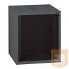 """LEGRAND fali rackszekrény 10"""" 6U, 362x320x300, antracit, egyrekeszes, üvegajtós, készre szerelet, max: 12 kg"""