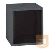 """LEGRAND fali rackszekrény 19"""" 9U, 494x600x600, antracit, egyrekeszes, üvegajtós, készre szerelet, max: 27 kg"""