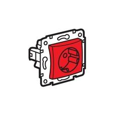 LEGRAND Valena 2P+F csatlakozóaljzat reteszelt, piros betéttel villanyszerelés