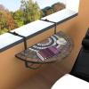 Lehajtható balkon asztal- barna
