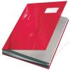 Leitz Aláírókönyv, A4, 18 részes, karton, LEITZ, piros (E57450025)