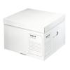 """Leitz Archiváló konténer, M méret, újrahasznosított karton,  """"Infinity"""", fehér"""