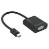 Leitz DisplayPort, mini, VGA adapter, LEITZ  Complete , fekete