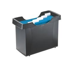 """Leitz Függőmappa tároló, műanyag, 5 db függőmappával, LEITZ """"Plus"""", fekete irodai kellék"""