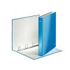 """Leitz Gyűrűs könyv, 4 gyűrű, D alakú, 40 mm, A4 Maxi, karton, lakkfényű,  """"Wow"""", kék"""