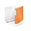 """Leitz Gyűrűs könyv, 4 gyűrű, D alakú, 52 mm, A4, PP,  """"Active Wow"""" narancssárga"""