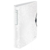"""Leitz Gyűrűs könyv, 4 gyűrű, D alakú, 52 mm, A4, PP, LEITZ """"Active Wow"""", fehér"""
