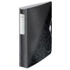 """Leitz Gyűrűs könyv, 4 gyűrű, D alakú, 52 mm, A4, PP, LEITZ """"Active Wow"""", fekete"""