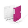 Leitz Gyűrűs könyv, 4 gyűrű, D alakú, 52 mm, A4, PP, LEITZ Active Wow rózsaszín (E42400023)