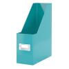 """Leitz Iratpapucs, PP/karton, 95 mm, lakkfényű, LEITZ """"Click&Store"""", jégkék"""