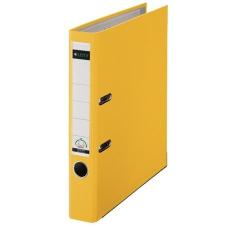 """Leitz Iratrendező, 52 mm, A4, PP/karton, élvédő sínnel,  """"180"""", sárga irattartó"""