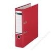 Leitz Iratrendező, 80 mm, A4, PP/karton, élvédő sínnel, LEITZ 180, piros (E10101225)