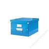 Leitz Irattároló doboz, A4, lakkfényű, LEITZ Click&Store, kék (E60440036)