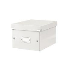"""Leitz Irattároló doboz, A5, LEITZ """"Click&Store"""", fehér irattartó"""