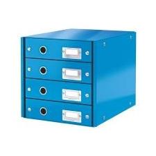Leitz Irattároló, laminált karton, 4 fiókos, LEITZ Click&Store, kék irattálca
