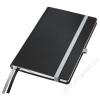 Leitz Jegyzetfüzet, A5, vonalas, 80 lap, keményfedeles, LEITZ Style, szaténfekete (E44850094)