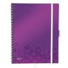 Leitz Spirálfüzet, A4, vonalas, 80 lap, LEITZ Wow Active, lila (E46440062)